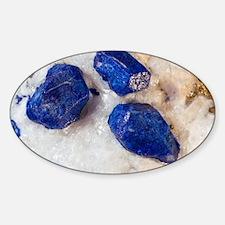 Lapis lazuli crystals Sticker (Oval)