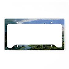 Jurassic landscape License Plate Holder
