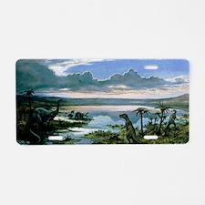 Jurassic landscape Aluminum License Plate