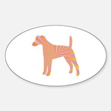 Terrier Rays Oval Decal