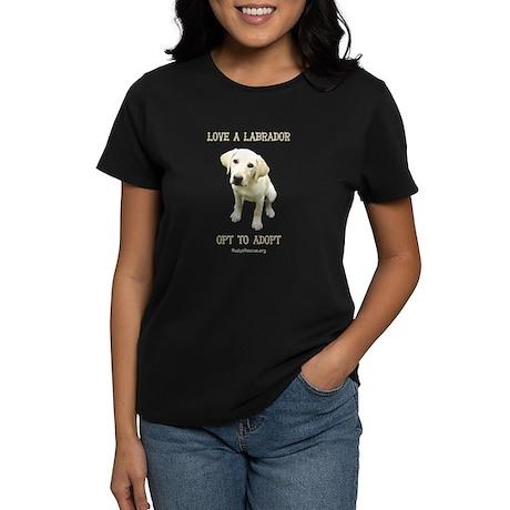 Love A Labrador Women's Dark T-Shirt