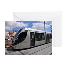 Jerusalem mass transport Light Train Greeting Card
