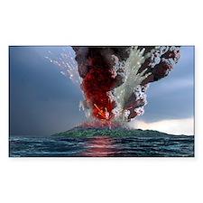 Krakatau volcano explosion, ar Decal
