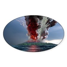 Krakatau volcano explosion, artwork Decal