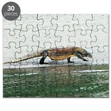 Komodo dragon on a beach Puzzle