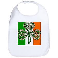 IRISH FLAG CELTIC CROSS SHAMROCK Bib