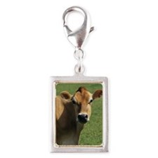 Jersey cow Silver Portrait Charm