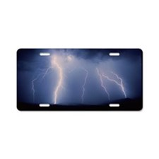July lightning storm, Tucso Aluminum License Plate