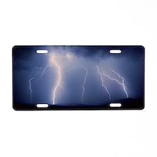 July lightning storm, Tucso Aluminum License Plate