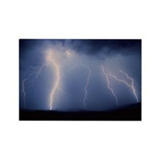 July lightning storm, Tucson, Ari Rectangle Magnet