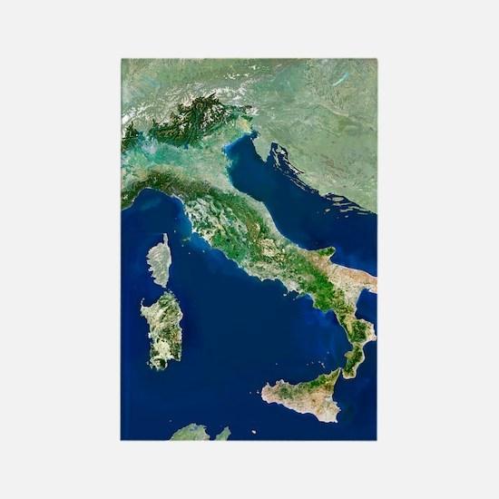 Italy, satellite image Rectangle Magnet