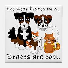 Braces Are Cool(2) Tile Coaster