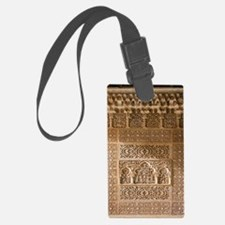 Islamic carvings, Alhambra, Spai Luggage Tag