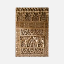 Islamic carvings, Alhambra, Spain Rectangle Magnet