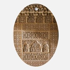 Islamic carvings, Alhambra, Spain Oval Ornament