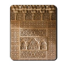 Islamic carvings, Alhambra, Spain Mousepad