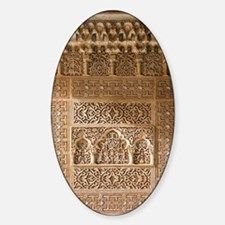 Islamic carvings, Alhambra, Spain Decal