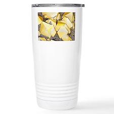 Iron pyrite crystals, SEM Travel Mug