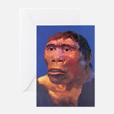 Java Man reconstruction Greeting Card