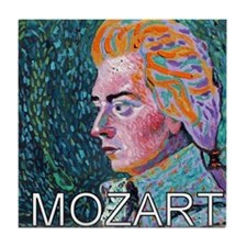 WHIRLING MOZART Tile Coaster