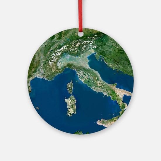 Italy Round Ornament