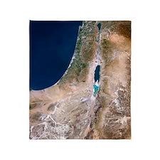 Israel, satellite image Throw Blanket