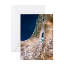 Israel, satellite image Greeting Card