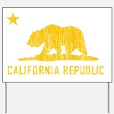 Vintage California Republic Yard Sign