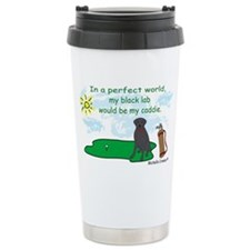 black lab Travel Coffee Mug