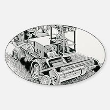 Industrial farming Sticker (Oval)