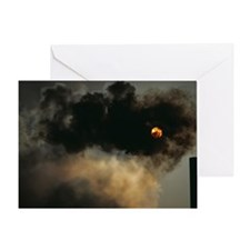 Industrial air pollution Greeting Card