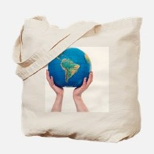 Inflated Earth globe Tote Bag