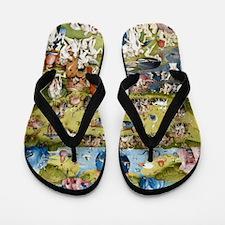 The Garden of Earthly Delights Flip Flops