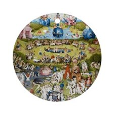 The Garden of Earthly Delights Round Ornament