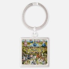 The Garden of Earthly Delights Square Keychain