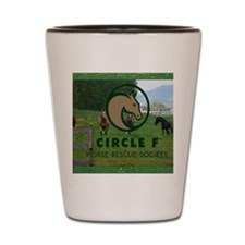 Circle F logo and herd Shot Glass