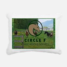 Circle F logo and herd Rectangular Canvas Pillow