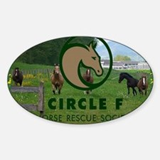 Circle F logo and herd Decal