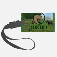 Circle F logo and herd Luggage Tag