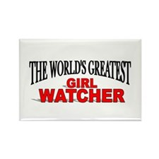 """""""The World's Greatest Girl Watcher"""" Rectangle Magn"""