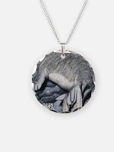 Hawaiian Monk Seal Necklace Circle Charm