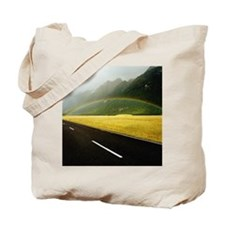 New Zealand, South Island, rainbow over g Tote Bag