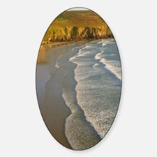 Incoming waves at Baie des Trepasse Sticker (Oval)