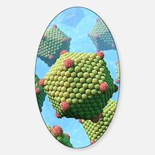 Icosahedral viruses, artwork Sticker (Oval)