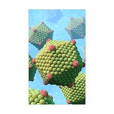 Icosahedral viruses, artwork Decal