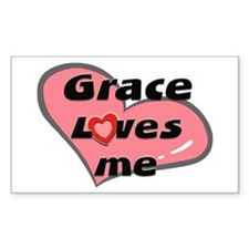 grace loves me Rectangle Decal