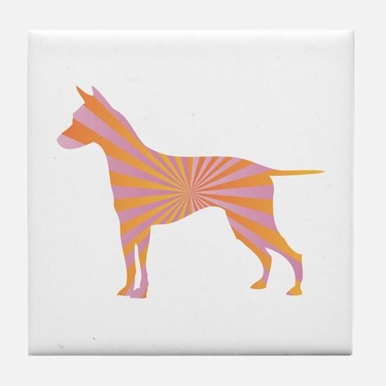 Ridgeback Rays Tile Coaster