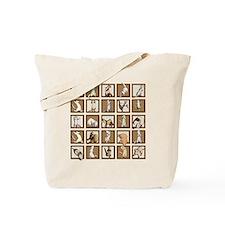 Ferret Squares Shower Curtain Tote Bag