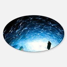 Ice cave interior Decal