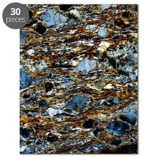 Mylonite mineral, light micrograph Puzzle